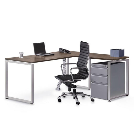 "72"" X 72"" Performance Elements Laminate L Desk with Mobile Pedestal File - Duckys Office Furniture"