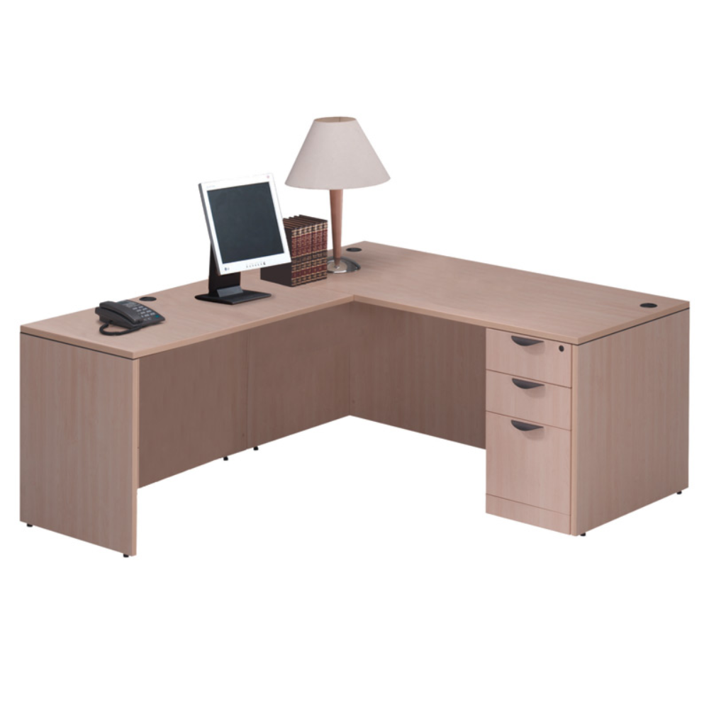 "Performance - 72"" x 78"" Performance Classic Laminate L Desk with Pedestal - Duckys Office Furniture"