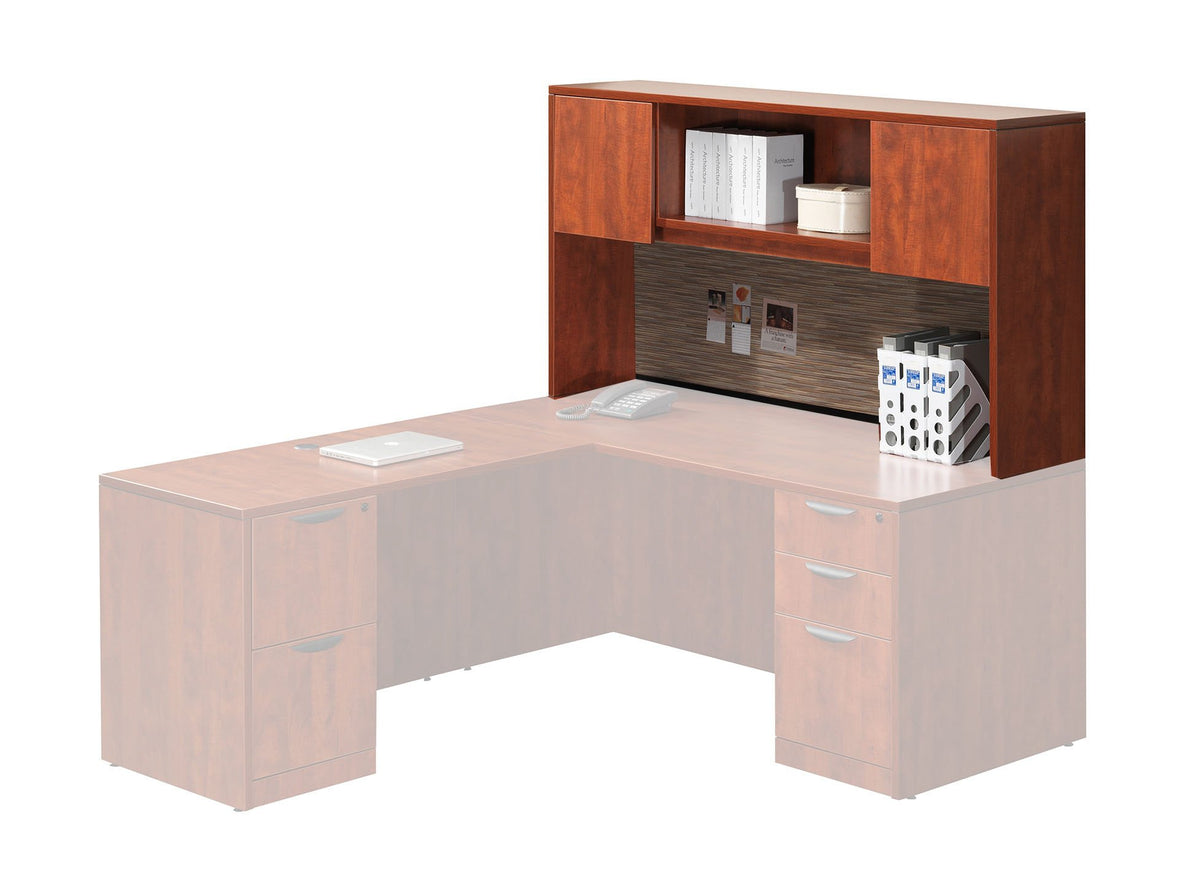 Performance - Add-On Performance Classic Laminate Hutch with 2 Laminate Doors - Duckys Office Furniture