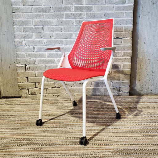 Pre Owned Herman Miller Sayl Stacking Side Chair - Duckys Office Furniture