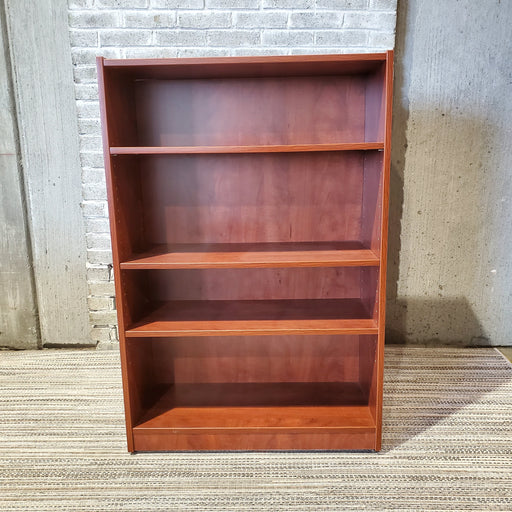 Used Cherry Laminate Bookcase - 4 Shelf - Duckys Office Furniture