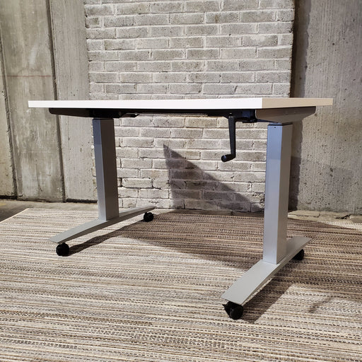 Used Herman Miller Manual Height Adjustable Desk - Duckys Office Furniture