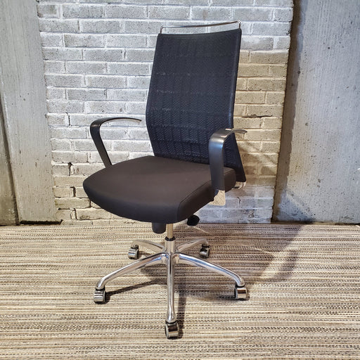 Used Krug Black Mesh Chair with Chrome Base - Duckys Office Furniture
