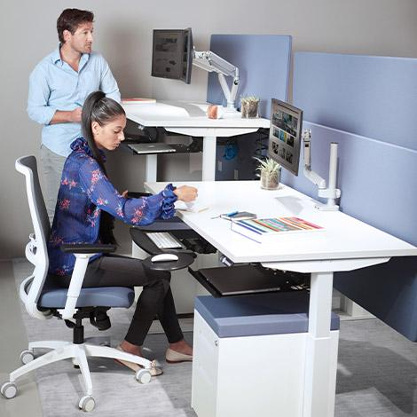 Switchback Height Adjustable Desk Set - IN STOCK!