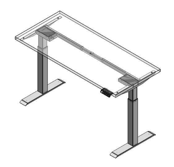 Switchback Height Adjustable Desk Set - IN STOCK! - Duckys Office Furniture