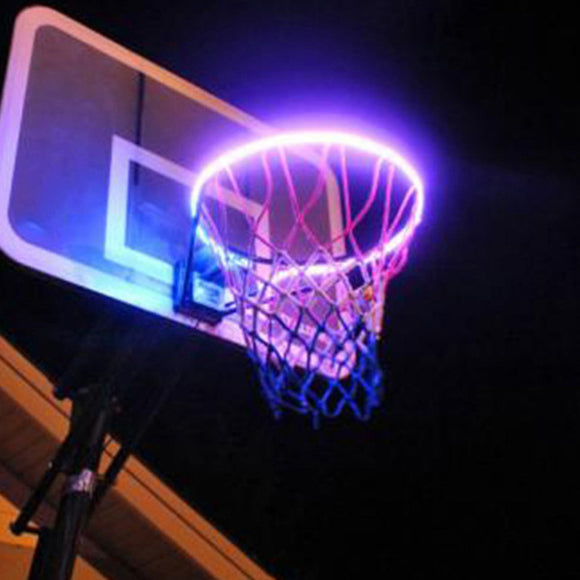 LED Basketball Hoop Light Basketball Rim Changing  Induction Lamp Shoot Hoops Solar Light Playing At Night LED Strip Lamp