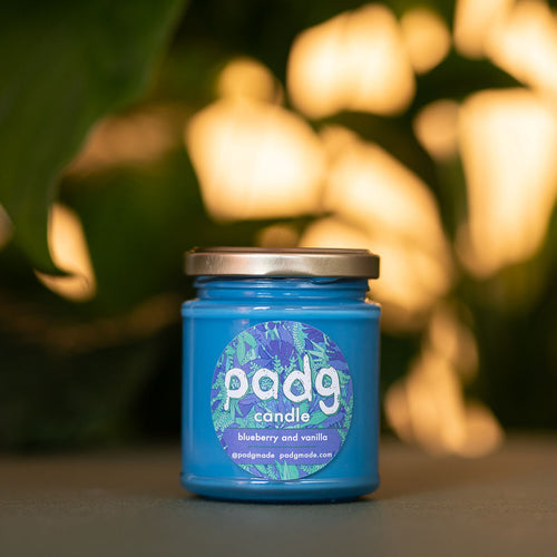 Blueberry and Vanilla - Blue padg candle - padgmade