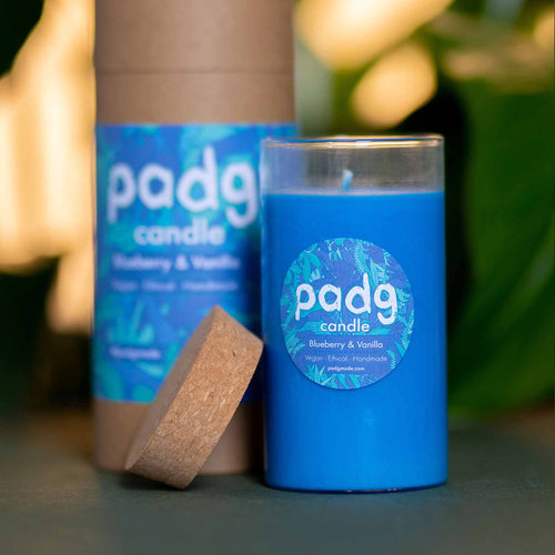 Blueberry & Vanilla - Large cork padg candle