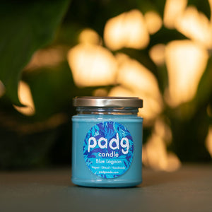 Blue Lagoon - Turquoise padg candle - padgmade