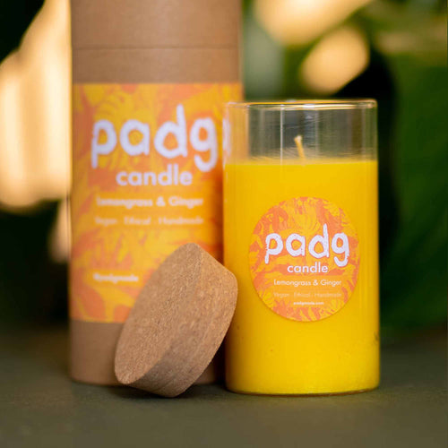 Lemongrass & Ginger - Large cork padg candle