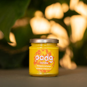 Lemongrass and Ginger - Yellow padg candle - padgmade