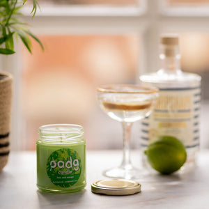 Lime and Mango - Green padg candle - padgmade