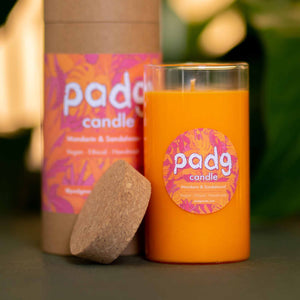 Mandarin and Sandalwood - Orange padg candle - padgmade