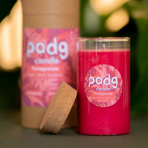 Pomegranate - Large cork padg candle