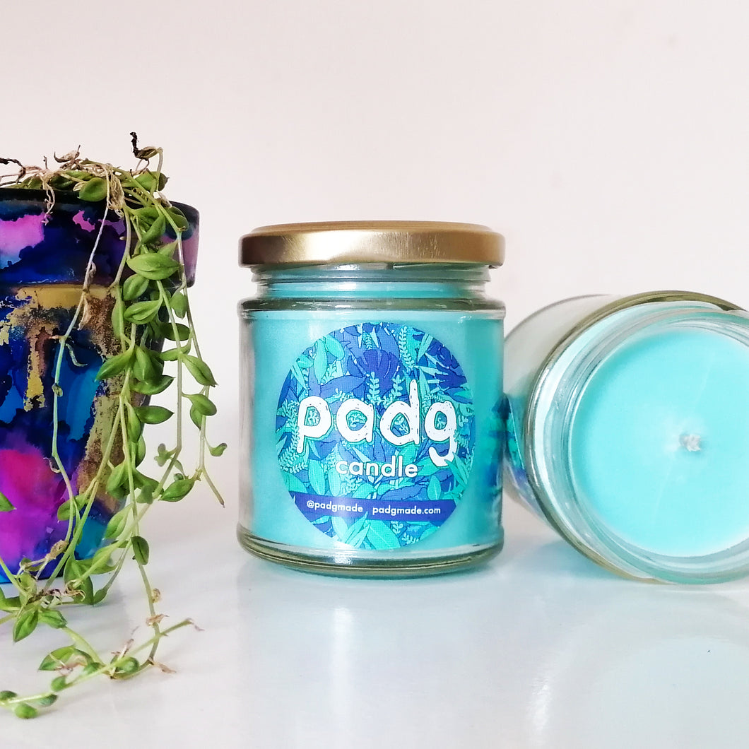 Seaweed and Juniper - Baby Blue padg candle - padgmade