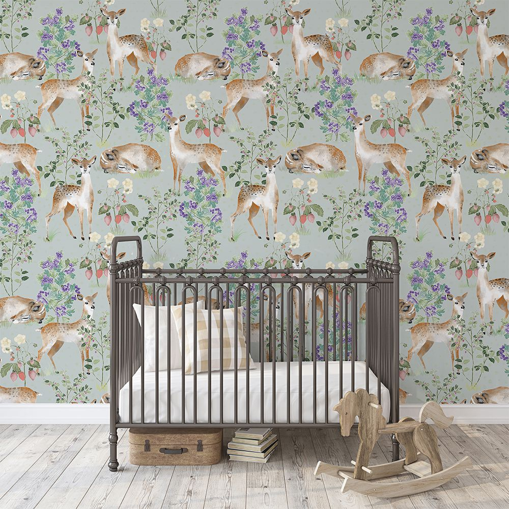Anca's Fawn in Green tapet aesthetic kids