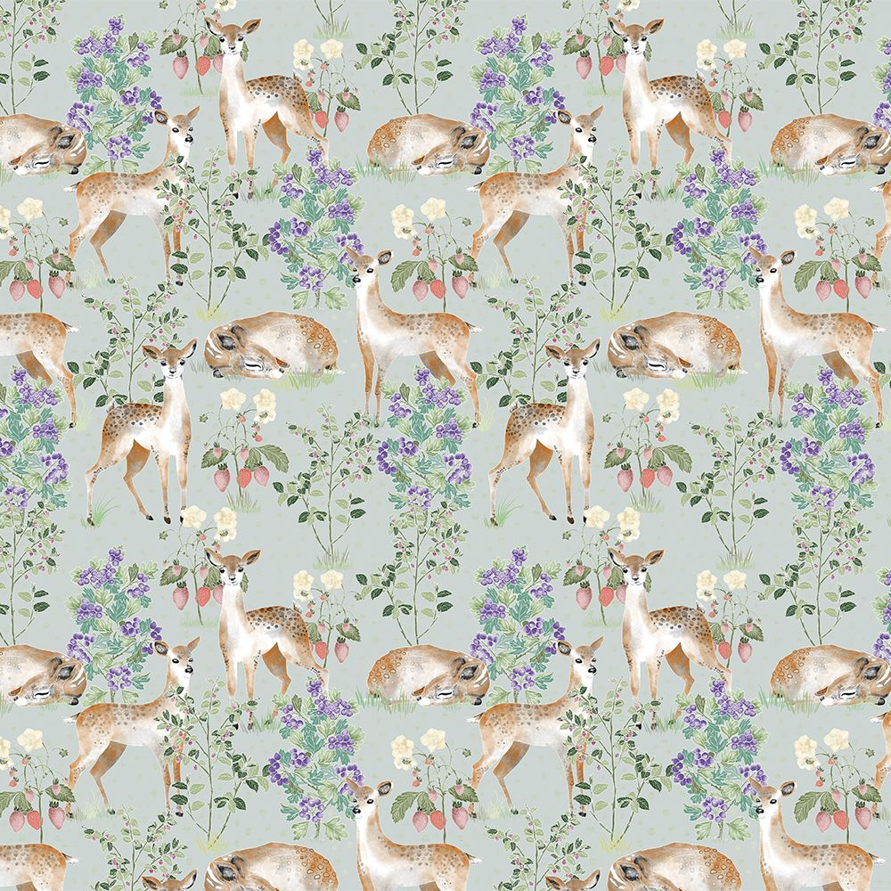 Anca's Fawn in Green wallcovering