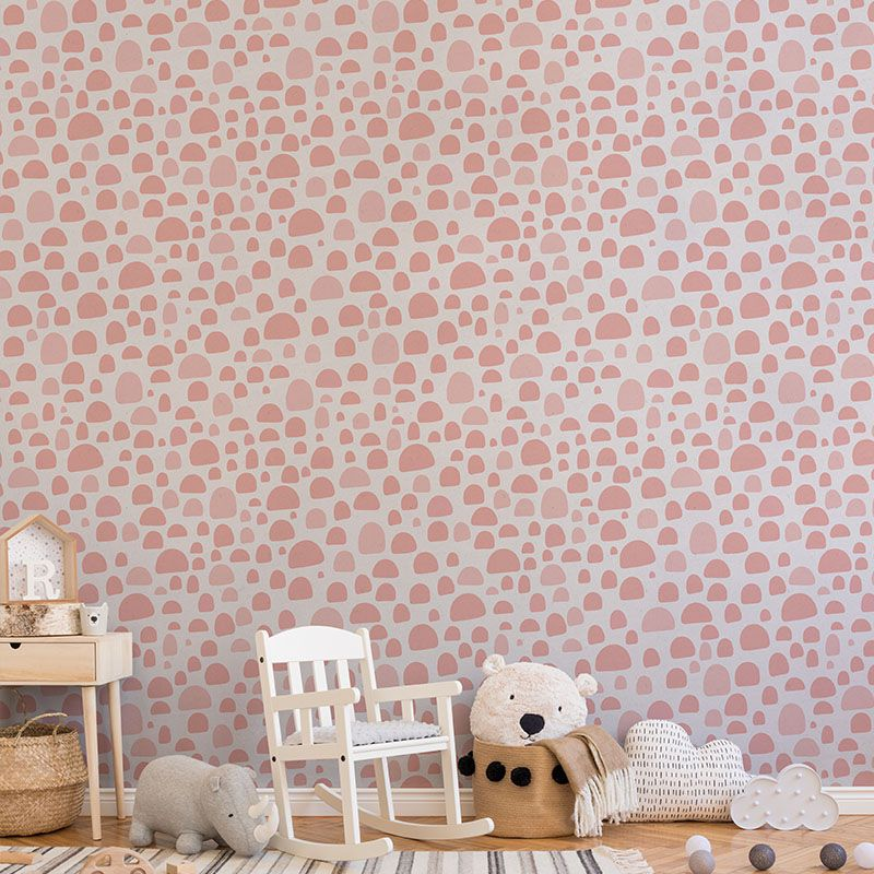 Little pink dots kids wallpaper