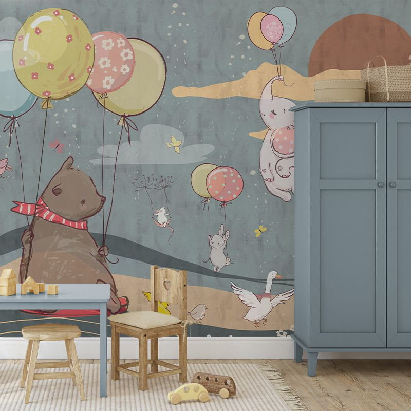 ballon party wallpaper for kids
