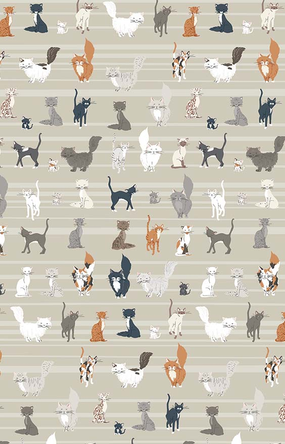 kitty day wallcovering kids rooms