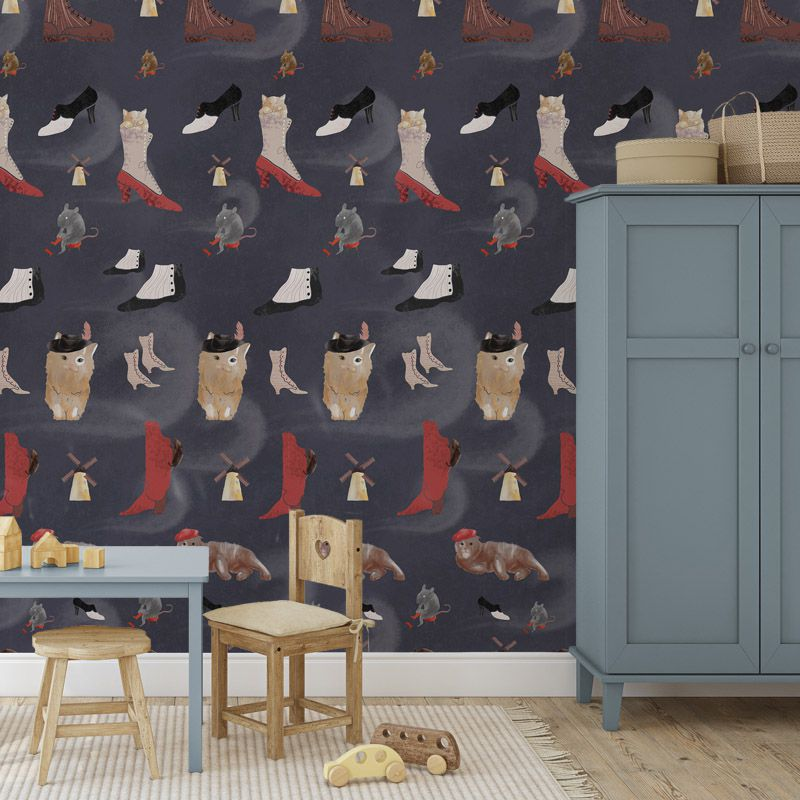 le maitre chat dark blue aedkids wallpaper