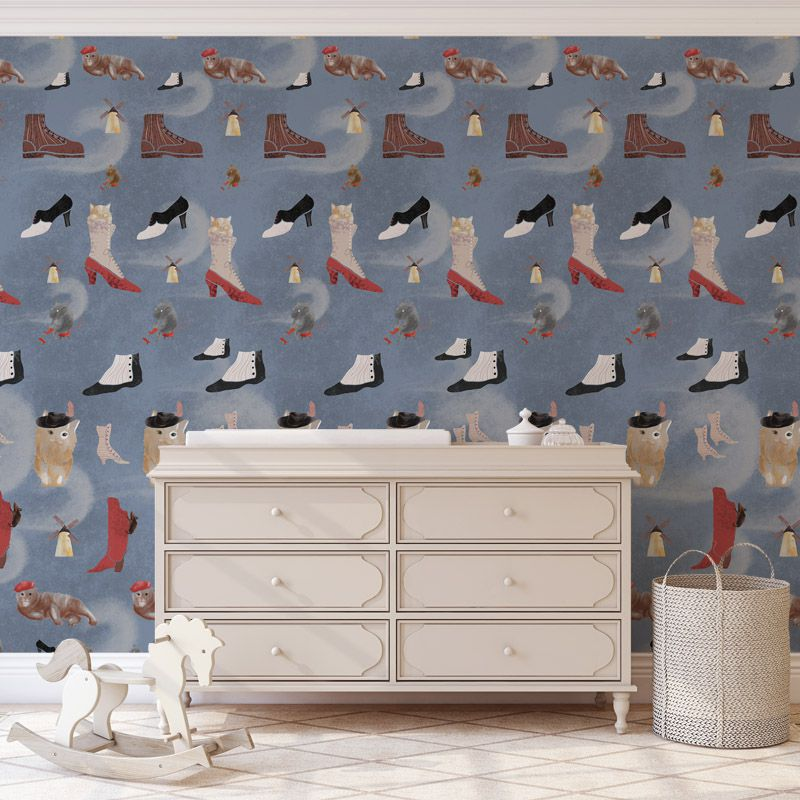 le maitre chat light blue aedkids wallpaper