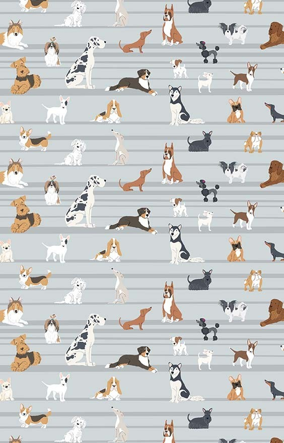 puppy days wallcovering kids rooms