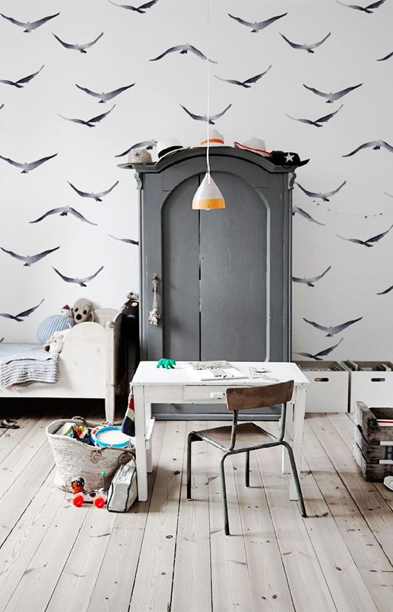 simple flight wallcovering kids rooms