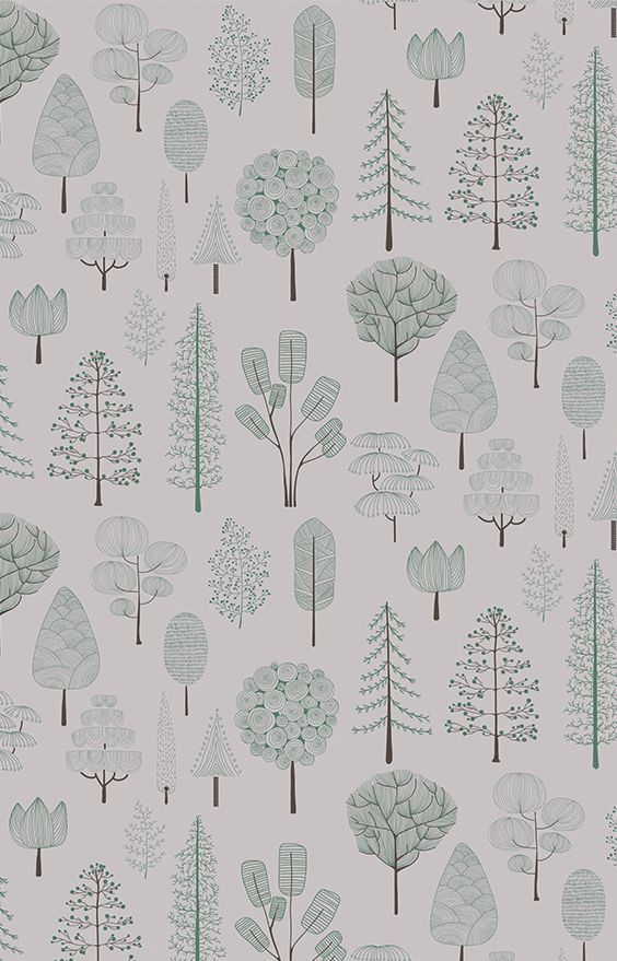 white forest wallcovering kids rooms