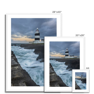 Hook Lighthouse Framed & Mounted Print