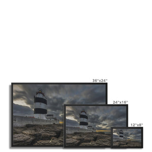Hook Lighthouse Framed Canvas