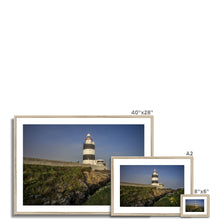 Load image into Gallery viewer, Hook Lighthouse Framed & Mounted Print