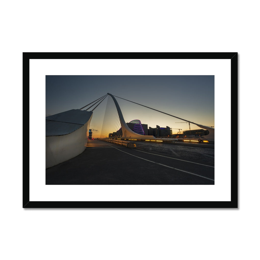 Samuel Beckett Bridge Framed & Mounted Print