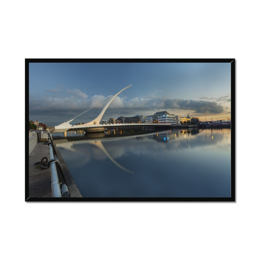 Samuel Beckett Bridge Framed Print
