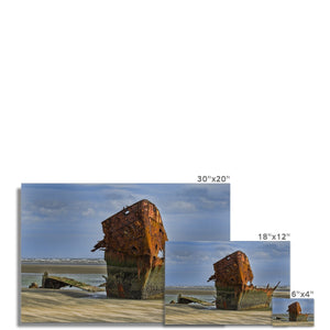Baltray Shipwreck Photo Art Print