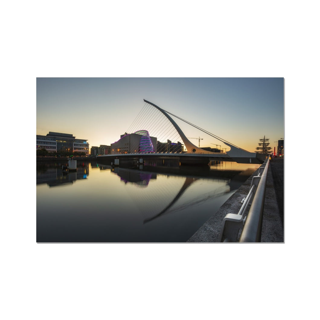 Samuel Beckett Bridge Photo Art Print