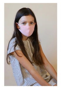 MADE IN JAPAN, BOTANICAL DYED, ORGANIC COTTON, ZERO WASTE FACE MASKS (Small/Kid)