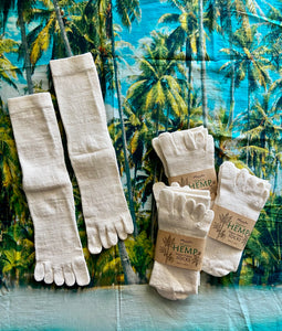 Organic Hemp Meditation Toe Socks