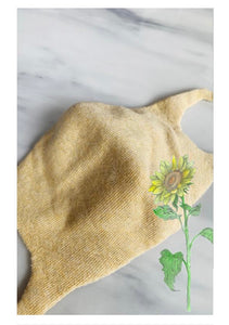 MADE IN JAPAN, BOTANICAL DYED, ORGANIC COTTON, ZERO WASTE FACE MASKS (Medium/Women)