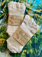 Load image into Gallery viewer, Organic Hemp Meditation Toe Socks