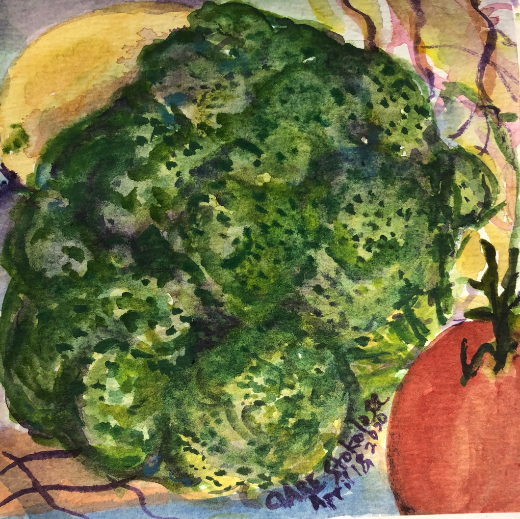 Broccoli watercolor