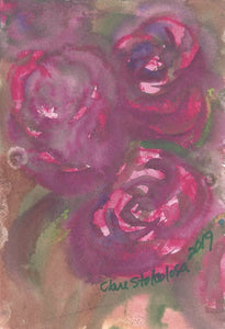 Roses: The 3 Pink Graces Watercolor