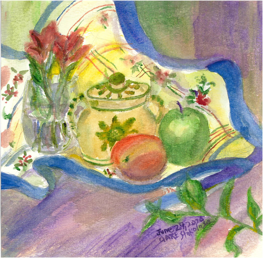 Kitchen Table with Fruit