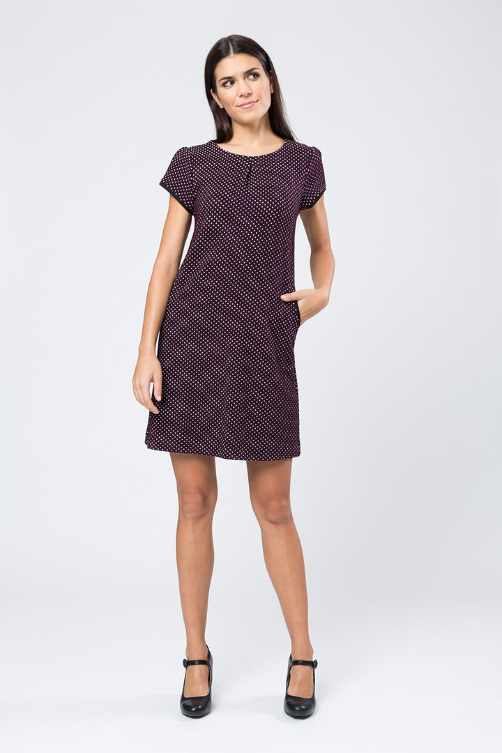Kleid »Hanna« Bordeaux Dots