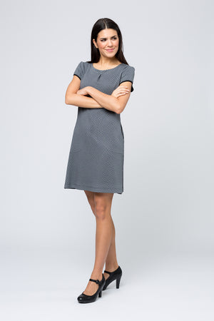 Kleid »Hanna« Grey Hexagon