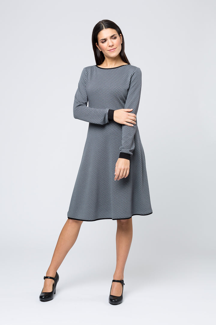 Kleid »Joline « Grey Hexagon