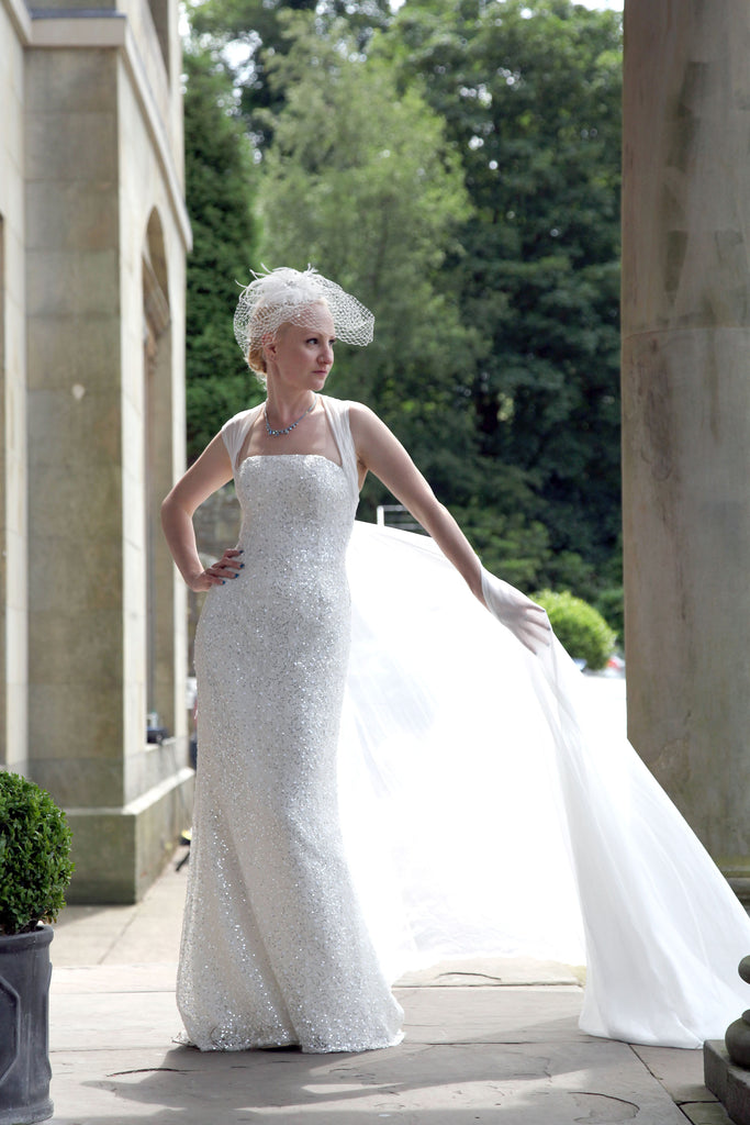 Elliot Claire All Sequinned Mermaid Wedding Dress
