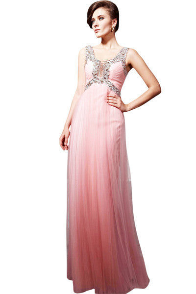 Magical Pink Tulle Prom Dress (56826) - Elliot Claire London