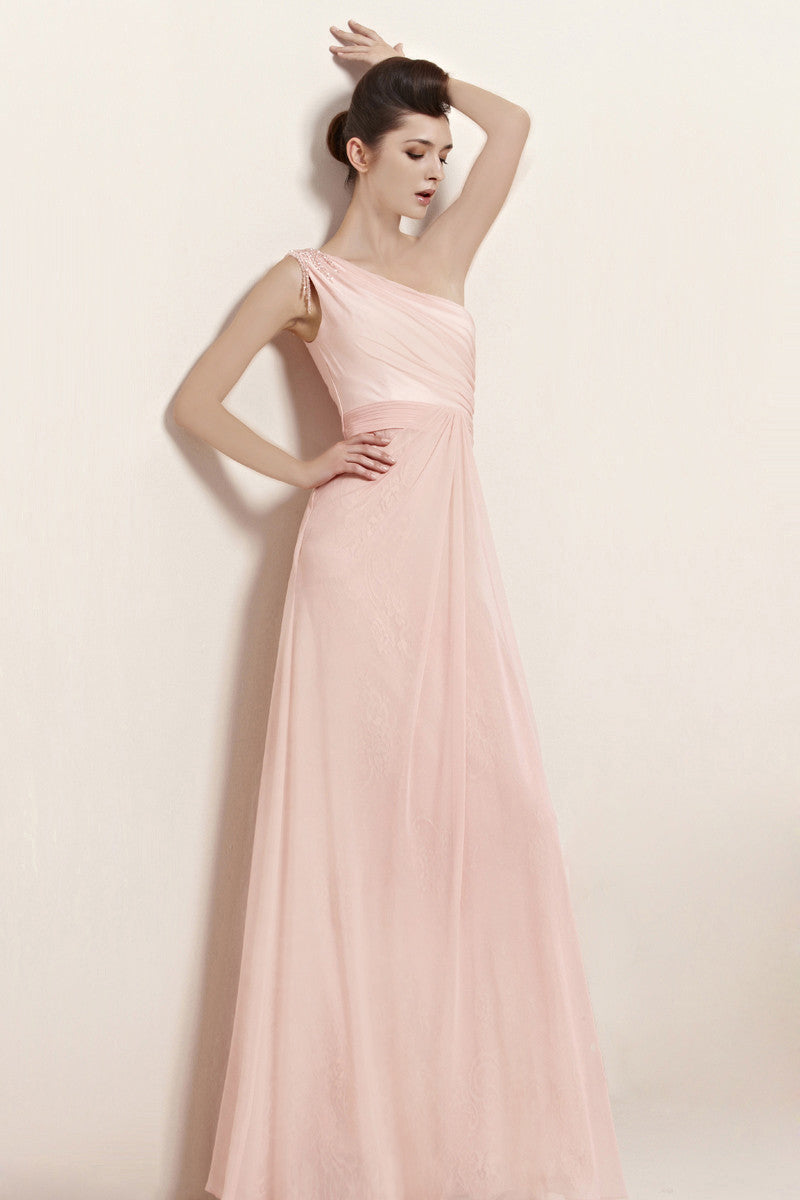 Nina in light pink asymmetric bridesmaid dress with beading 30023 elliot claire nina in light pink asymmetric bridesmaid dress with beading ombrellifo Gallery