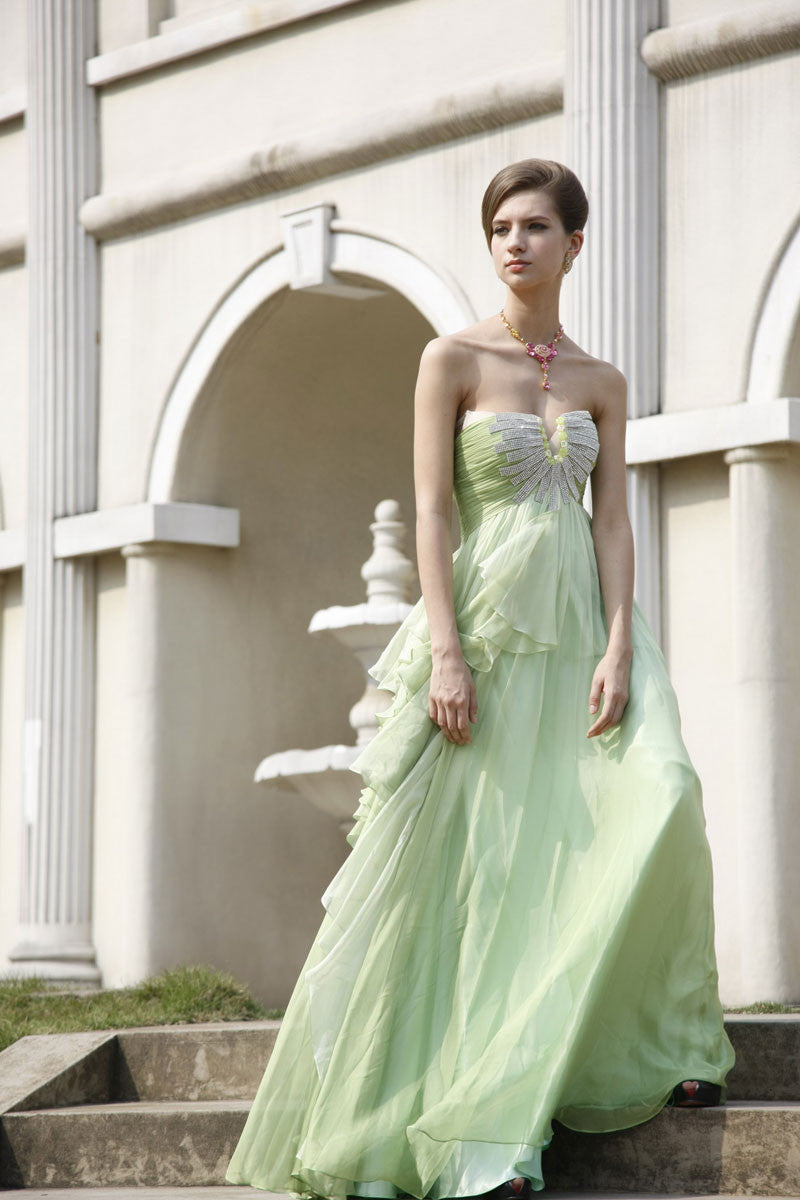 Lime green bridesmaid dress with ruffled skirt 80321 elliot elliot claire lime green bridesmaid dress with ruffled skirt ombrellifo Images